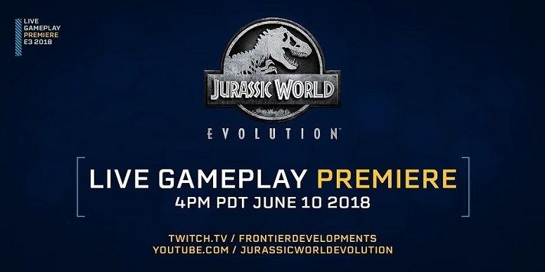 Premiere-of-gameplay-Jurassic-world-Evolution-Logo
