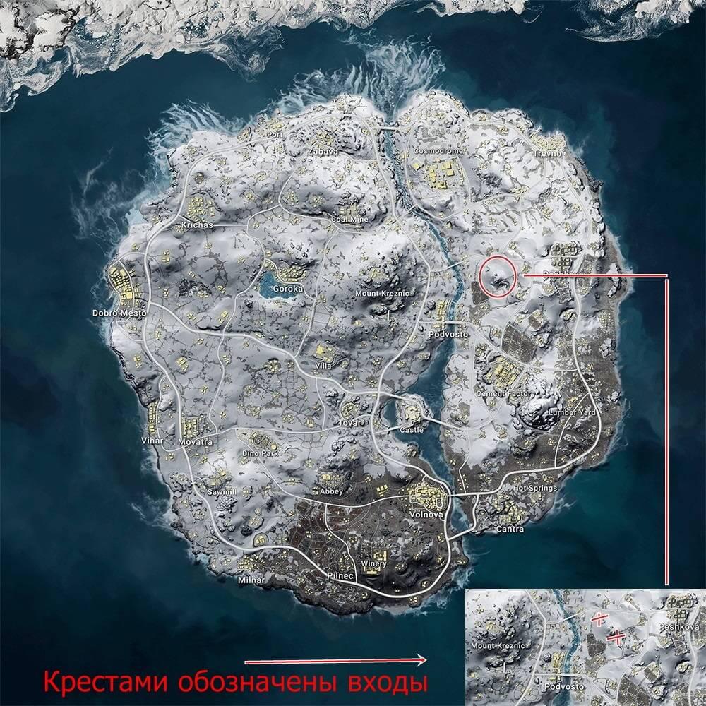 Скрытая пещера на карте Викенди